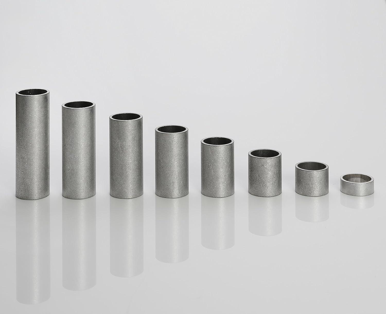 Casquillos distanciadores de aluminio, de metallgo, M10 (10 mm de diámetro interior), 5-40 mm de longitud, Länge 5 mm, 1: Amazon.es: Industria, ...