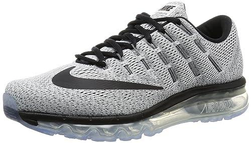 wholesale dealer 6e5e7 cc543 Nike Mens Air Max 2016 White and Black Running Shoes - 10 UKIndia (