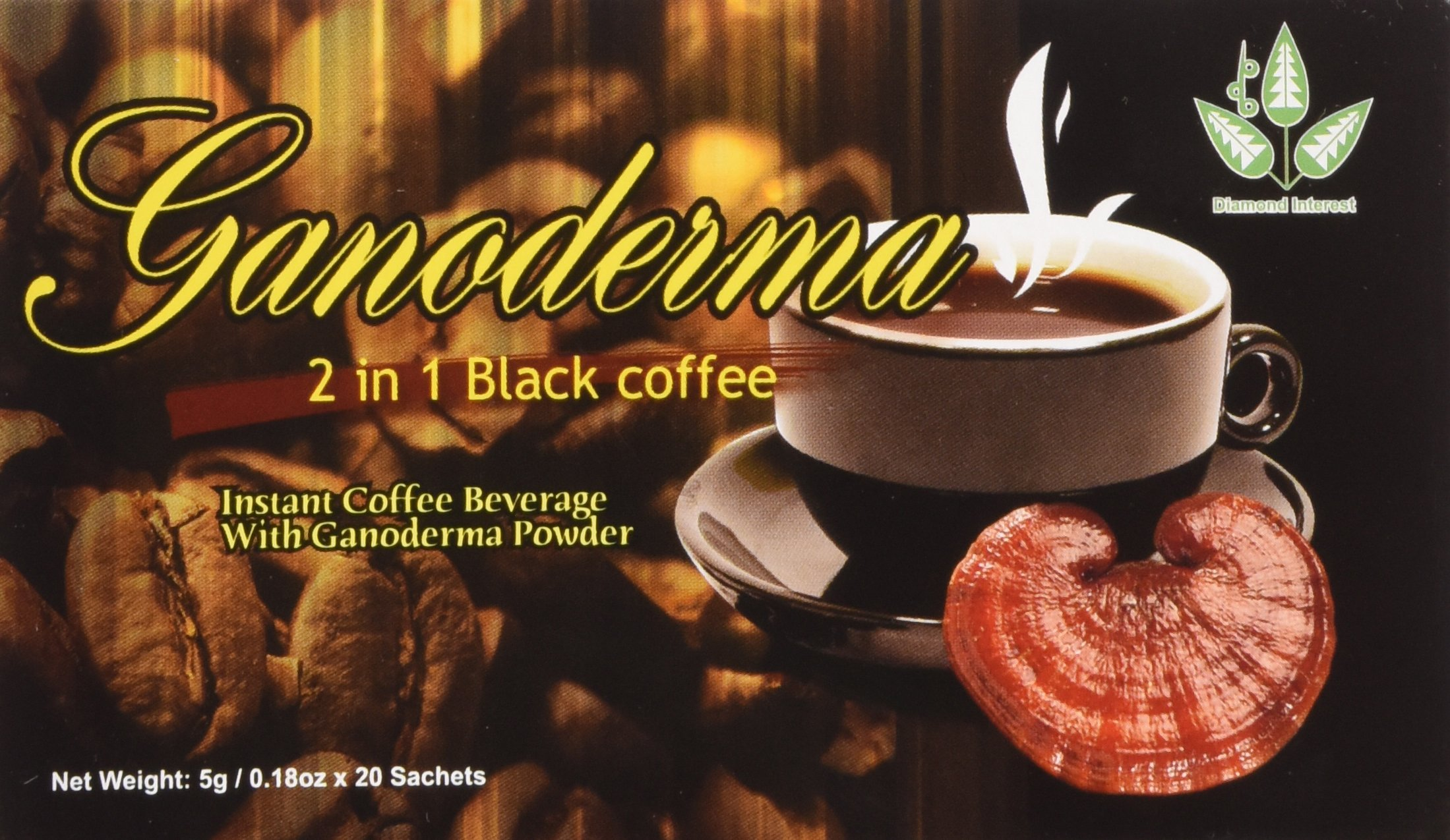 2-1 Classic Cafe Style Healthy Black Coffee with Ganoderma (20 Sachets) by Diamond