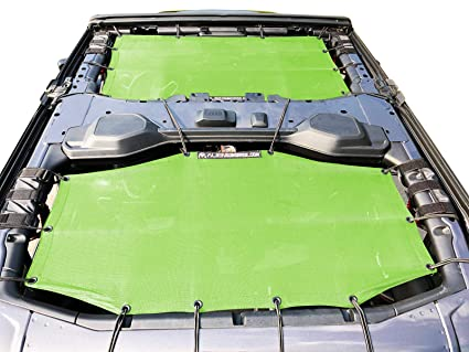 6ac82eae6a4 Image Unavailable. Image not available for. Color: ALIEN SUNSHADE Jeep  Wrangler 4 Door JLU 2-Piece Front & Rear Sun Shade Mesh