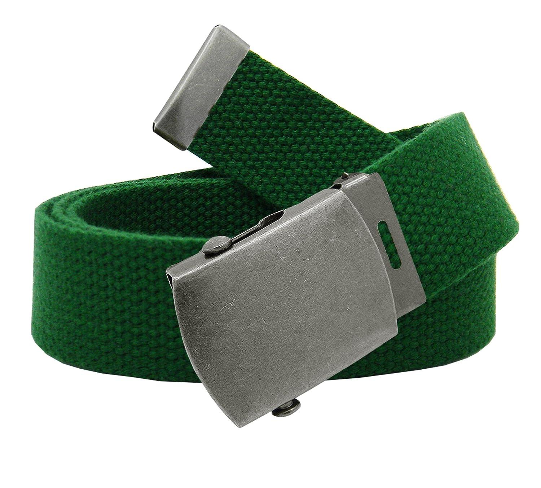 Girl's School Uniform Antique Silver Slider Belt Buckle with Canvas Web Belt 8010G-$P