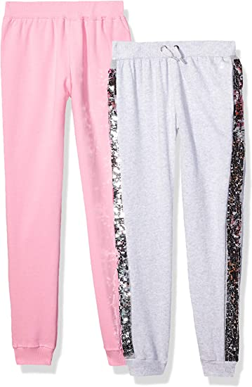 Amazon Com Limited Too Girls 2 Pack Fleece Jogger Pant Clothing