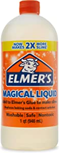 Elmer's Glue Magical Liquid Activator Solution, 1 Quart, for Making Slime, Clear