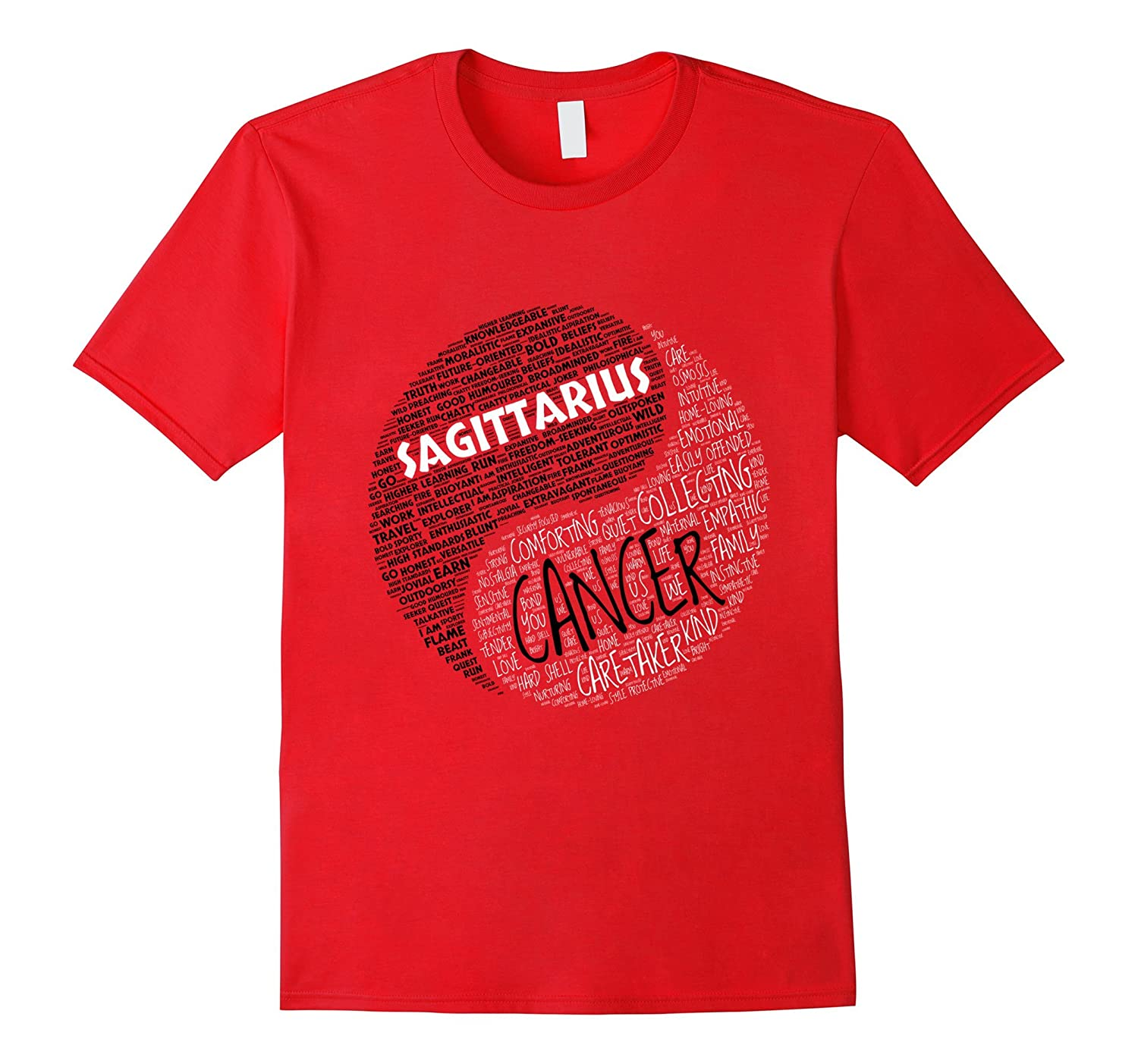 Zodiac Shirt for Men  Women Sagittarius and Cancer T-shirt-TH