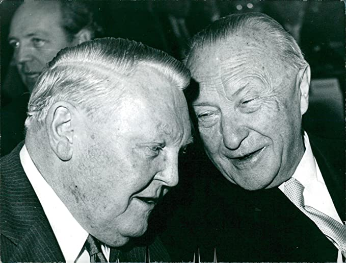 Amazon.com: Vintage photo of Ludwig Erhard and Konrad Adenauer ...