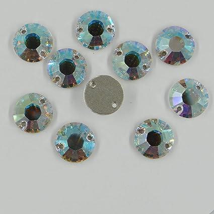 3200 14 CI *** 2 Pierres à Coudre Cristal Swarovski Rondes 14mm ...