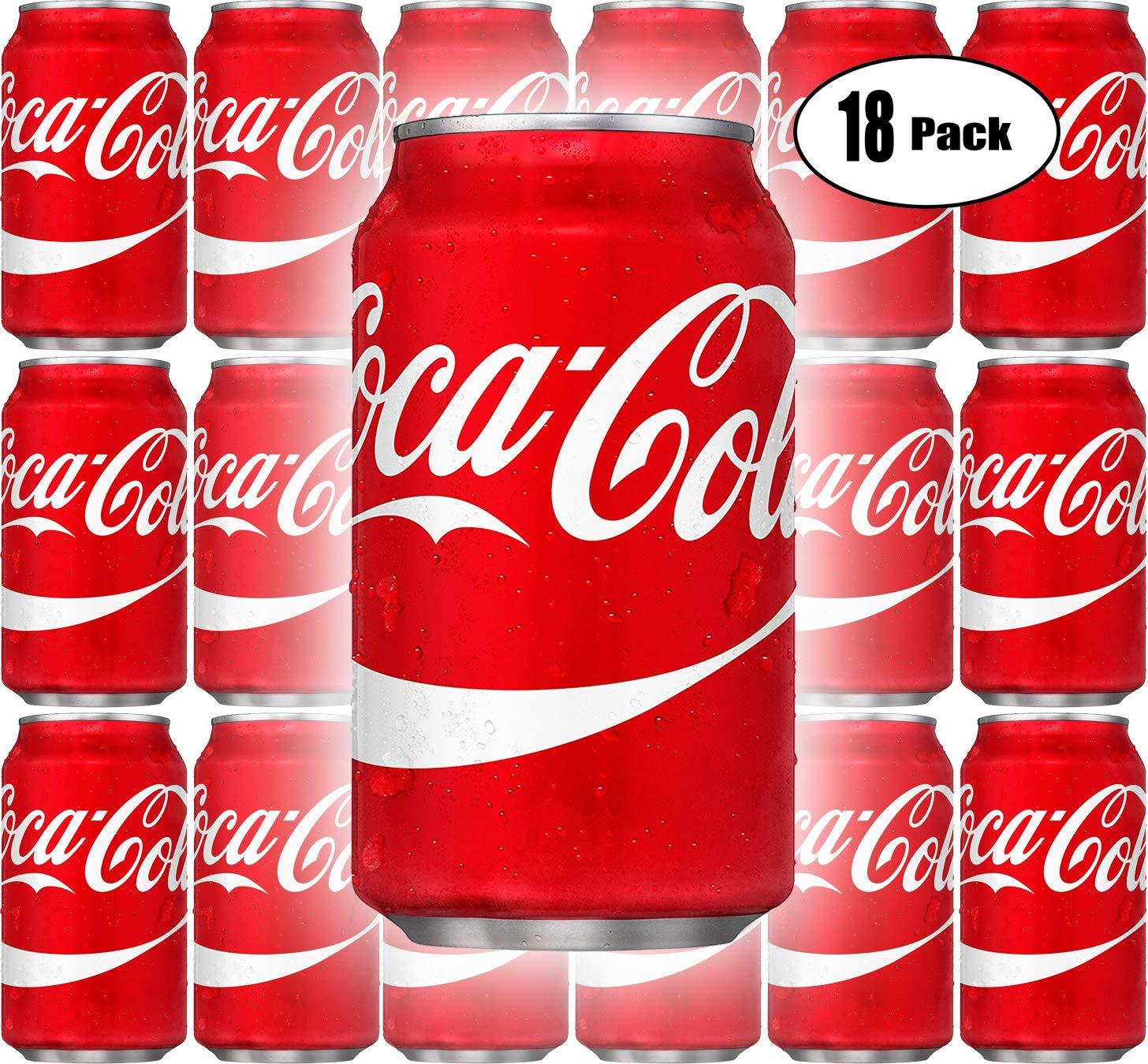 Coca-Cola, Coke Classic, Original, 12oz Cans (Pack of 18, Total of 216 oz)