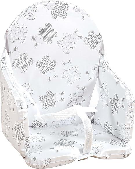 Looping - Cojín para silla de bebé, diseño de conejos Multicolor ...