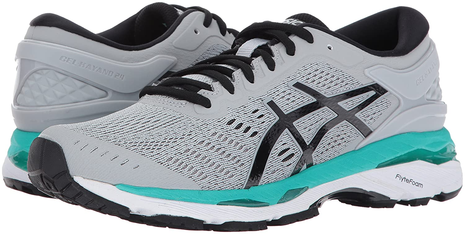 ASICS Women's Gel-Kayano 24 Running Shoe B01MXE1RPQ 10 B(M) US|Mid Grey/Black/Atlantis