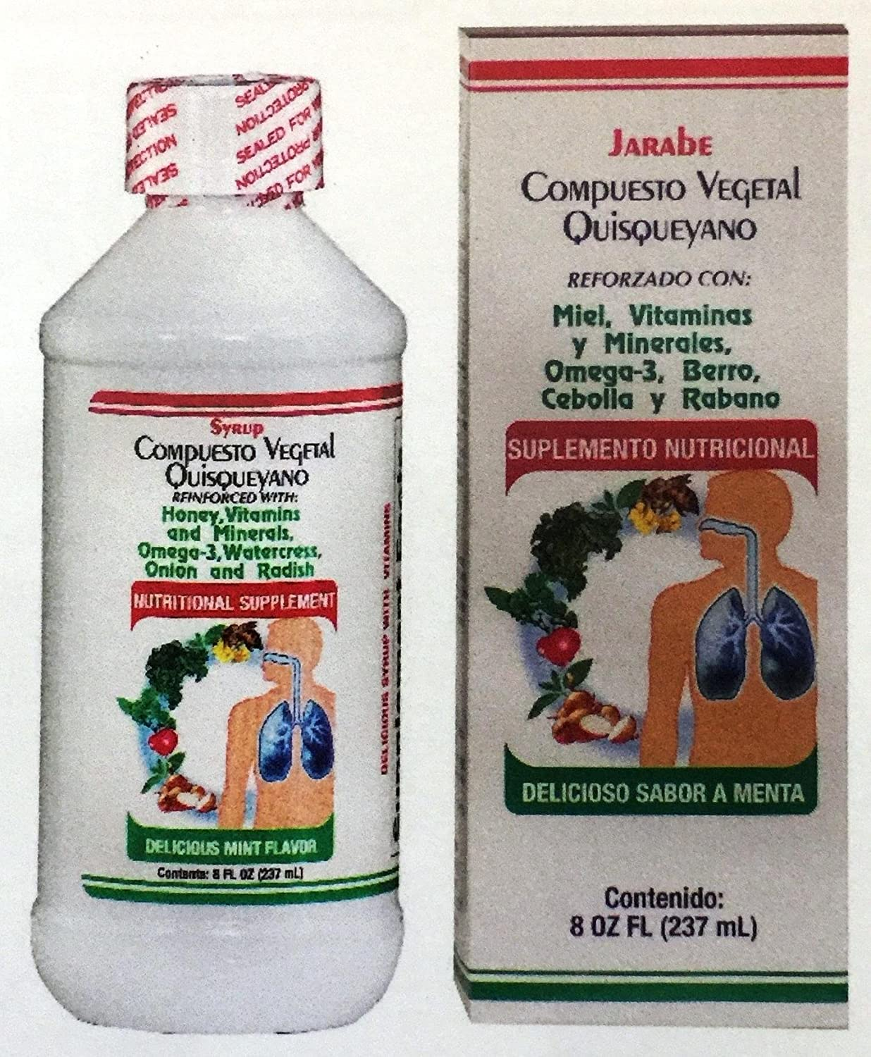Amazon.com: Compuesto Vegetal Quisqueyano Jarabe 8 oz. Vegetal Compound: Health & Personal Care