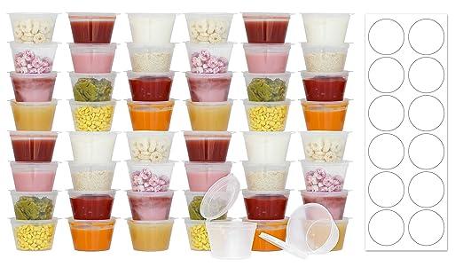 Desechables 3 ml sin BPA bebé contenedores de almacenamiento ...