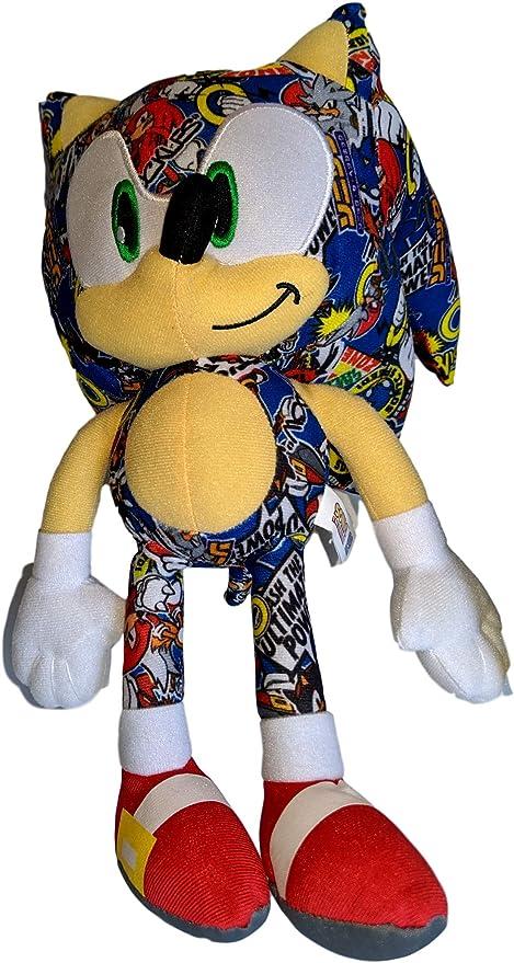 Amazon Com Sonic The Hedgehog 12 Inch Sticker Bomb Plush Stuffed Toy Toys Games