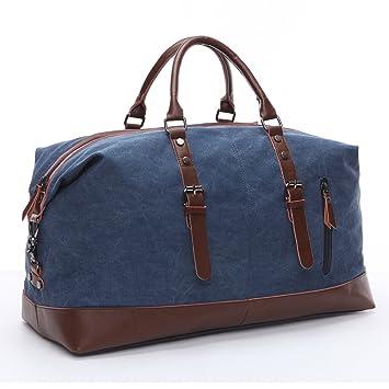 94e108e4eed86 Limirror vintage Canvas Reisetasche Sporttasche weekender Tasche für Damen  und Herren mit der Großen Kapazität (