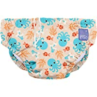 (Blue Squid, Small (0-6 Months)) - Bambino Mio, Reusable Swim Nappy, Multicolour (Blue Squid) Small (0-6 Months)