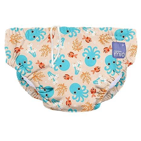 Bambino Mio, pañal bañador, calamar azul, mediano (6-12 meses)