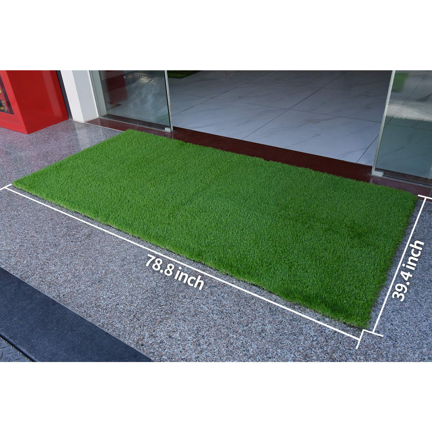 RoundLove Artificial Grass Turf Patch 1 4 Tone Synthetic Grass Mat w//Drainage Holes /& Rubber Backing Fake Turf for Indoor /& Outdoor Patio Decor Lush /& Hard for Indoor /& Outdoor Decor theLittleHouseUS Lush /& Hard Pet Turf Astroturf Rug