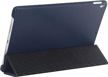 "StilGut Couverture Case, custodia in morbida pelle per Apple iPad Pro 10.5"" 2017, Blue Navy"