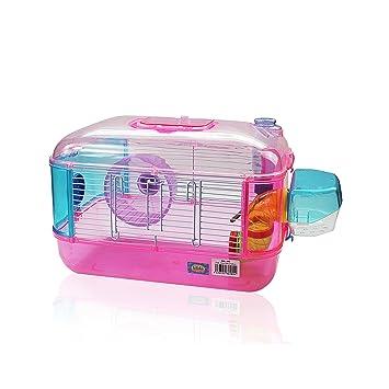DI ZE LIN PET HOME S.L DZL® Jaula para hamster de plástico duro, caseta