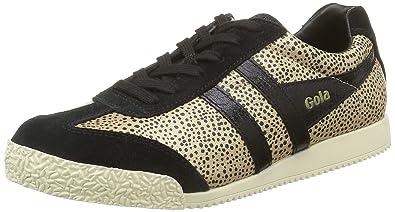 Womens Harrier Safari Fashion Sneaker, Black/Gold, 7 M US Gola