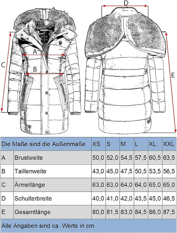 Marikoo Lieblings Jacke Manteau dhiver pour Femme matelass/é avec Capuche XS-XXL