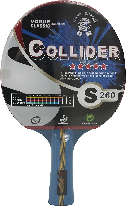 Pala de Ping Pong Kounga GD - Collider - 5 Estrellas, Unisex Adulto, Rojo/Negro, Talla Única