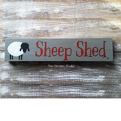 Amazon.com: MarthaFox – Cartel de oveja de oveja con texto ...