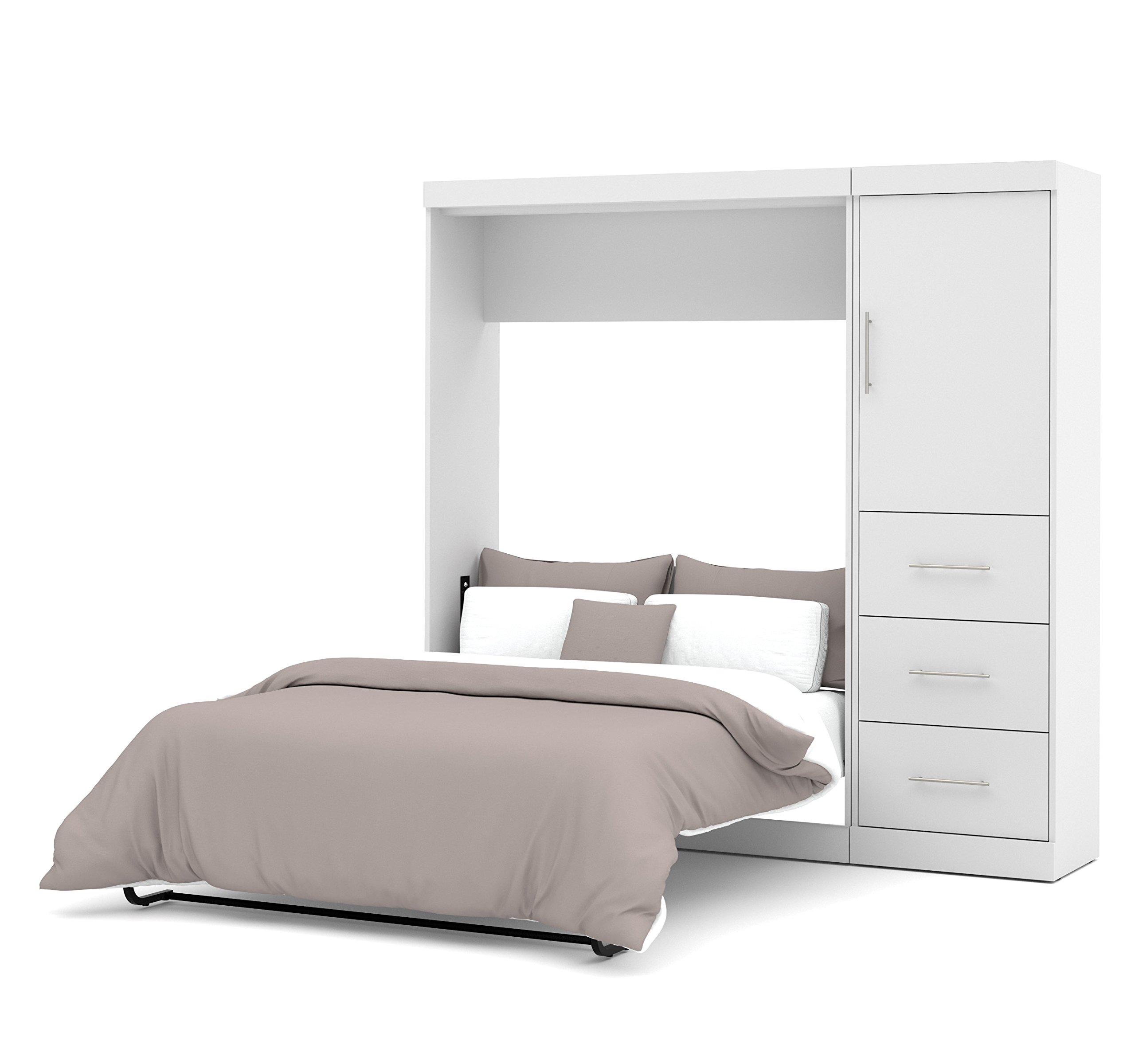 BESTAR 25892-17 Nebula 84'' Full Wall Bed Kit, White