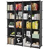 "KOUSI Portable Storage 20 Cubes-14"" x14""(Load-Bearing Metal Panel) Modular Bookshelf Units, Clothes Storage Shelves, Room Org"
