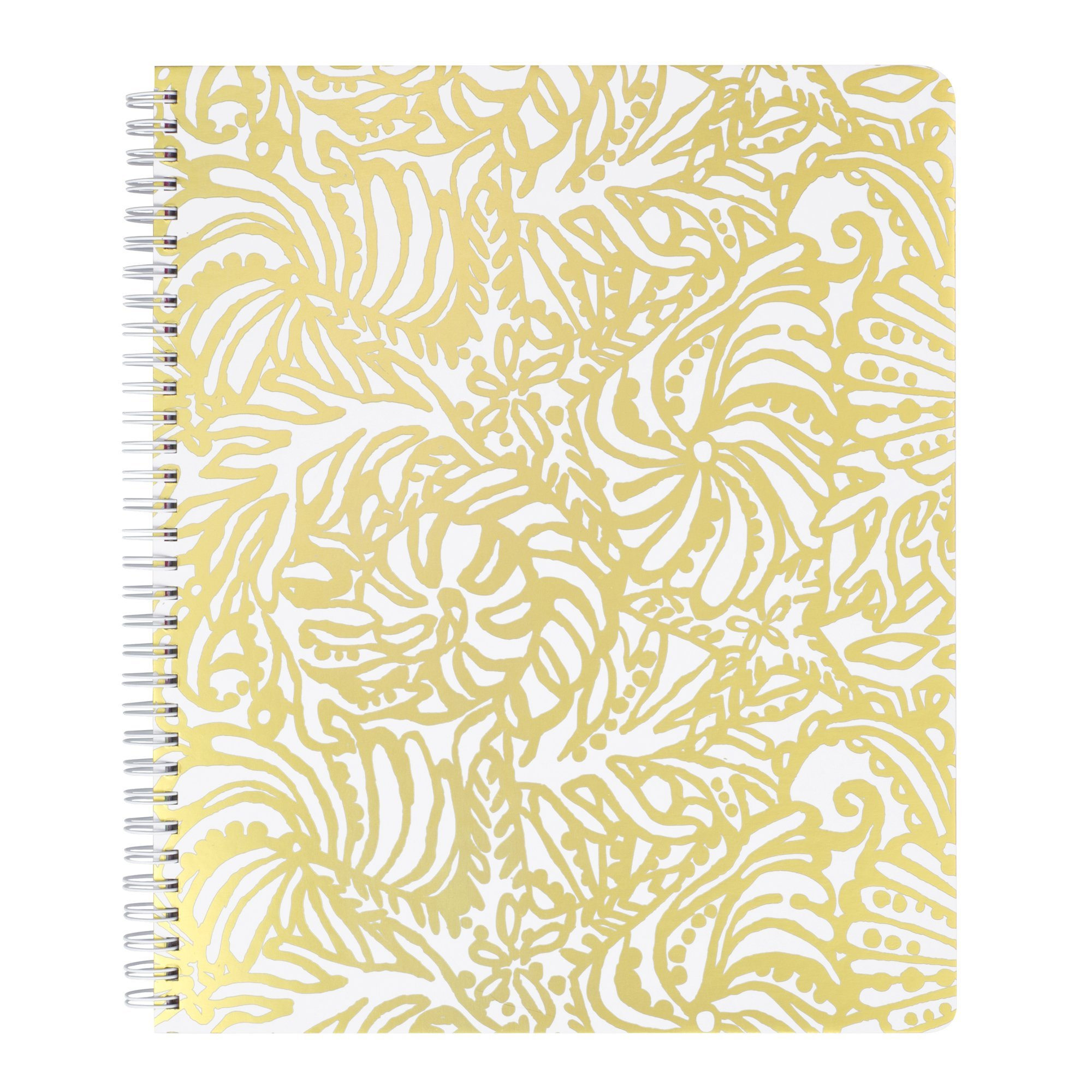 Lilly Pulitzer Women's Large Notebook, Beach Haven, Gold