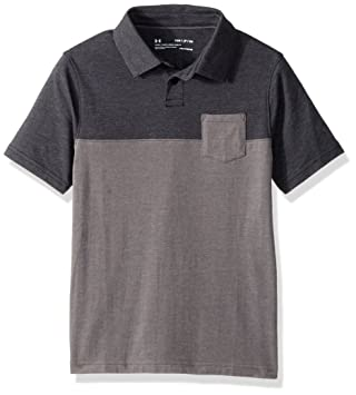 Under Armour Charged Cotton Scramble Polo Chemise à Manches Courtes - Homme - Gris (Dark Grey) - Taille: S 2DHDRmb