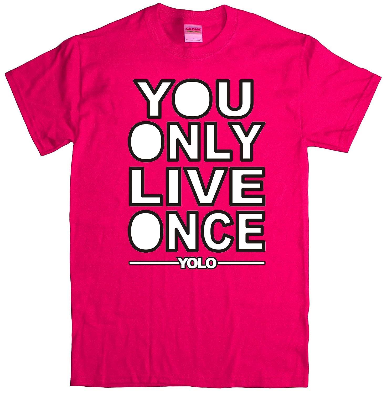 Amazon com: Ryott Designs YOLO V2 Pink T-Shirt: Handmade