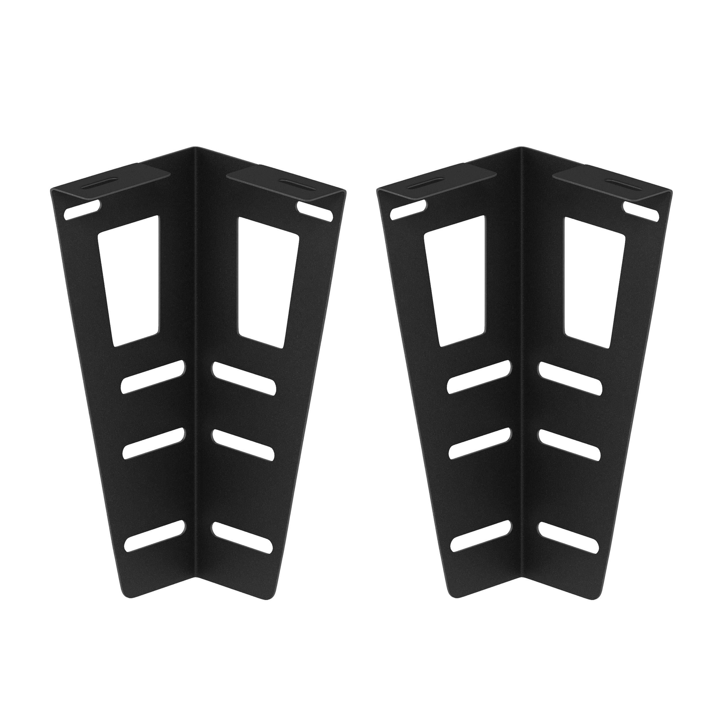 FURINNO FB000BK Set of 2, Universal Headboard Bracket, Black