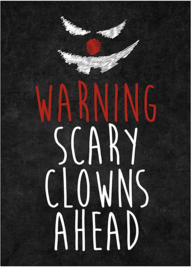 Halloween Creepy Carnevil Clown Lenticular//Picture Change Poster Sign