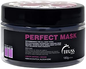 TRUSS Perfect Hair Mask - Collagen, Keratin & Hyaluronic Acid For Deep Conditioning Hair Treatment - Intense Moisture & Hydration - Repairs Fine, Thinning, Brittle, Dry Damaged Hair