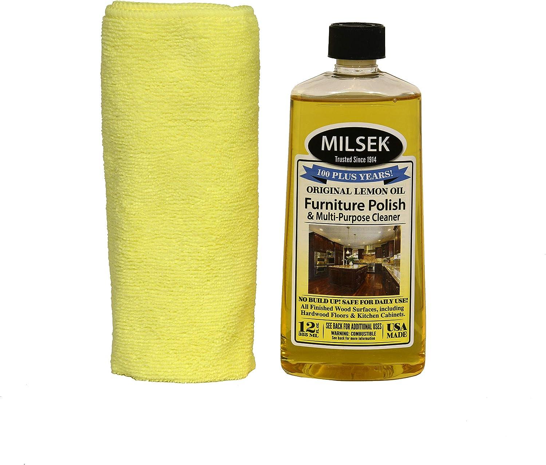 Milsek floor-cleaners, 12-Ounce & Cloth, LMT