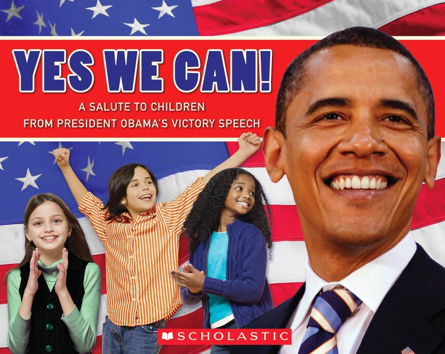Image result for 6. Yes, We Can! A Salute To Children From President Obama's Victory Speech: