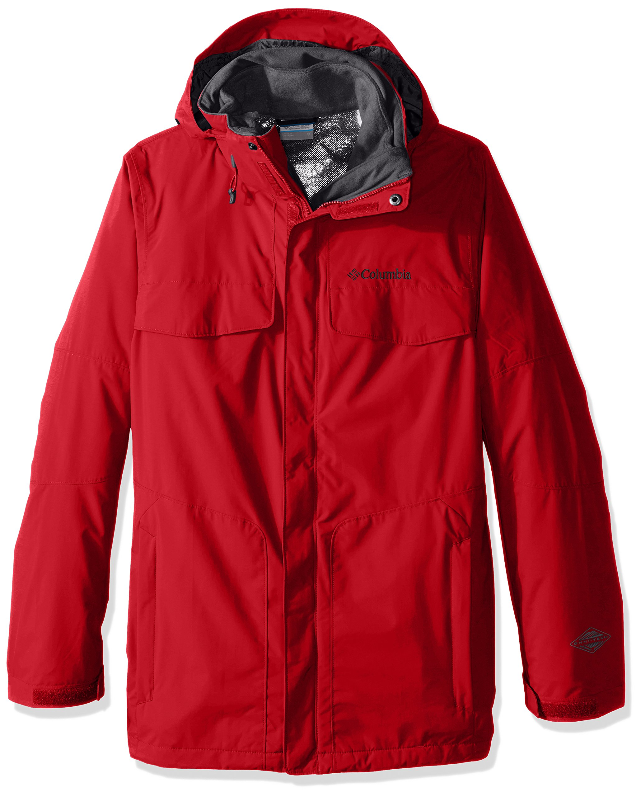 Columbia Men's Bugaboo Interchange Jacket, Mountain Red, 6X