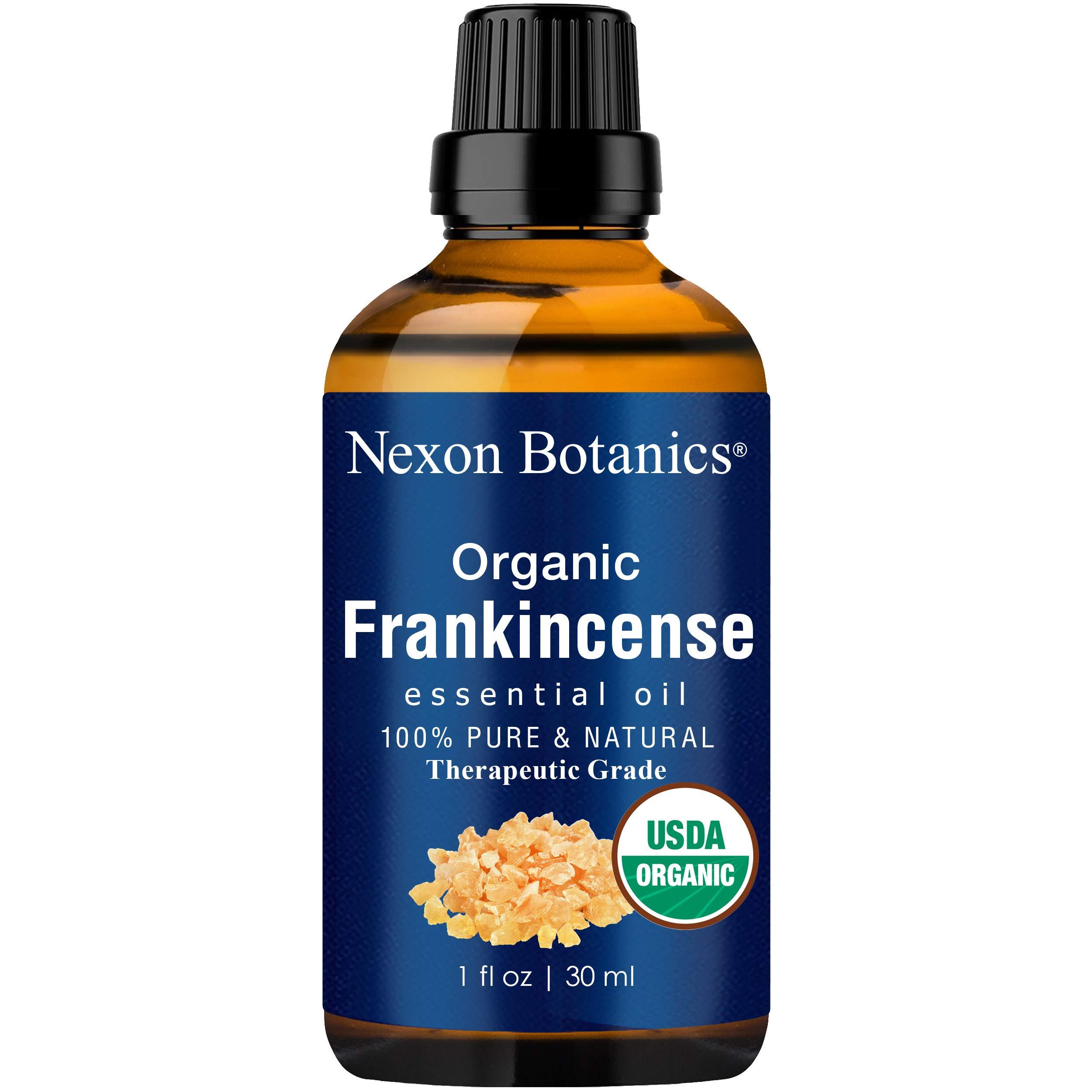 Nexon Botanics Organic Frankincense Essential Oil 30 ml - USDA Certified Frankincense Oil Organic - Pure, Natural Frankensence Essential Oil for Diffuser and Aromatherapy by Nexon Botanics