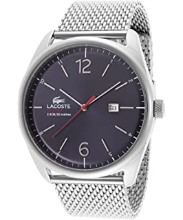 Lacoste Mens 2010683 Austin Stainless Steel Bracelet Watch Stainless Steel/Blue Watch
