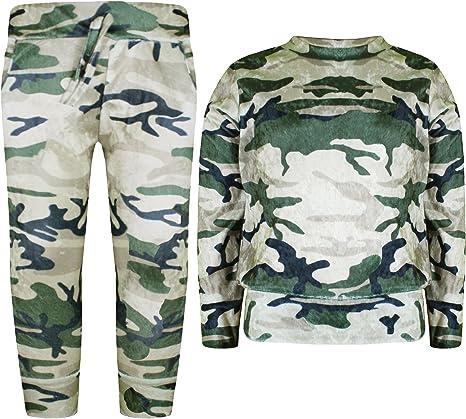 Terciopelo Chándal Militar para Niña, Sudadera y Pantalones, Lote ...