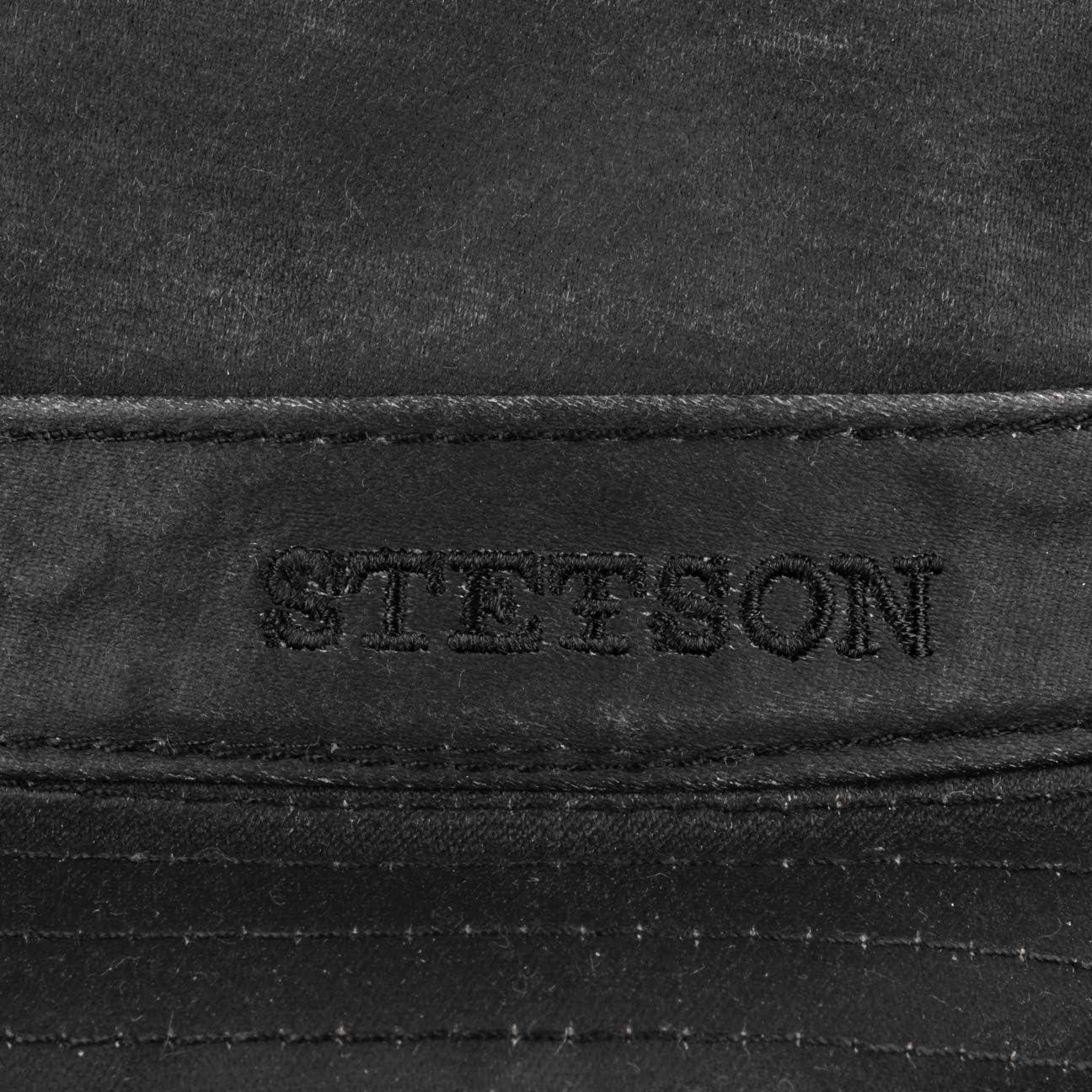 Stetson Cappello Pork Pie Odenton Da Donna/uomo - Porkpie In Cotone Fedora Impermeabile E Con Protezione Dal Sole Estate/inverno Nero