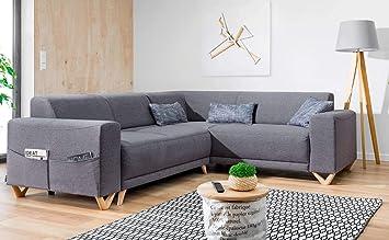 b4a1c5b4ab2 Bobochic - Bella - Canapé d angle panoramique Convertible avec Coffre -  Droit