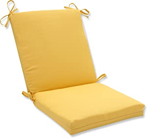 """Pillow Perfect Outdoor/Indoor Forsyth Soleil Square Corner Chair Cushion, 36.5"""" x 18"""", Yellow"""