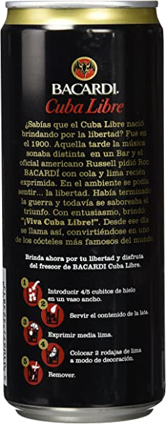 Bacardi - Cuba Libre - Ron - 33 cl: Amazon.es: Alimentación y ...