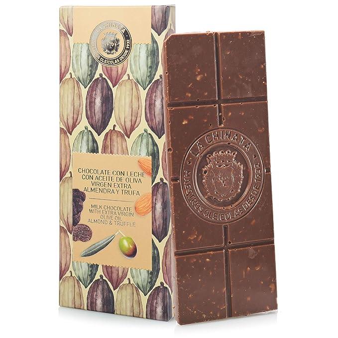 Chocolate con Aceite de Oliva Virgen Extra, Almendras y Trufa (100 g) -