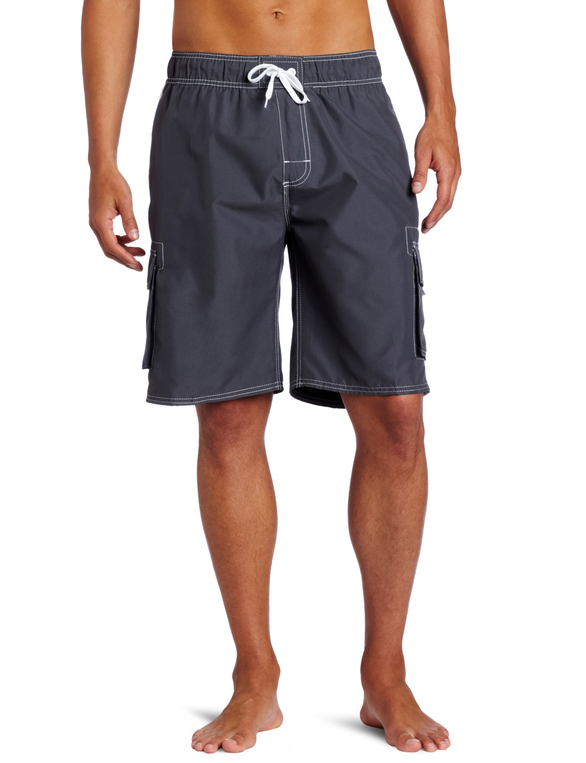 Kanu Surf Men's Barracuda Trunk, Charcoal, X-Large by Kanu Surf