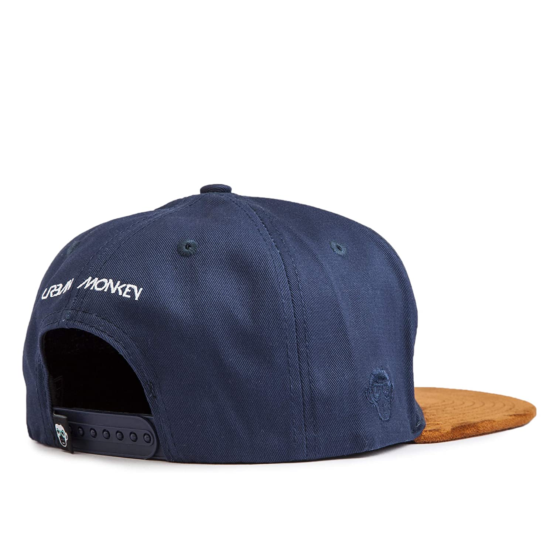 2b4a12747ab URBAN MONKEY Unisex Blue  Puff  Suede Brim Snapback-Free Size