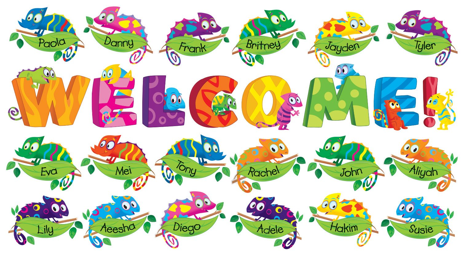 Welcome Chameleons Bulletin Board (SC541736) by Scholastic