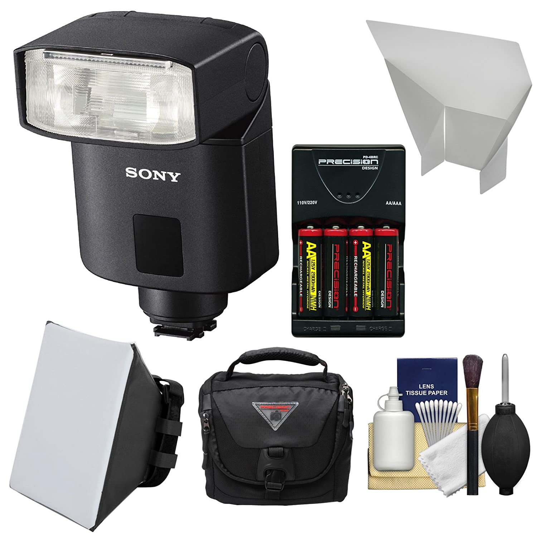 Sonyアルファhvl-f32 m Flash with電池&充電器+ソフトボックス+ディフューザー+ケースキットfor a99、a68、a36000、a6300、a7、a7s、a7r、Cyber - shot DSC - rx1r、rx10、rx100 II、hx400 Vカメラ   B00OCW16ZU
