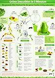 Grüne Smoothies in 5 Minuten (2017) - Intuitive Anleitung um die gesunde Mini-Mahlzeit für die ganze Familie richtig zuzubereiten - (DINA4 - 2 Seiten ... praktisch, abwischbar und blätterfrei)